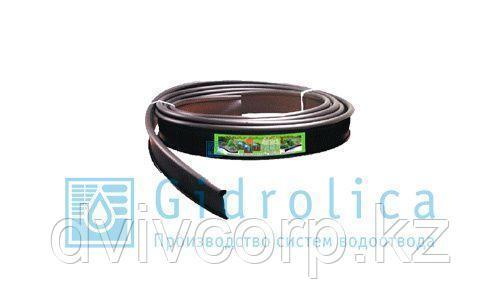 Арт. 7305 Бордюр Gidrolica Country Б-10000.2.11 - пластиковый черный L10000