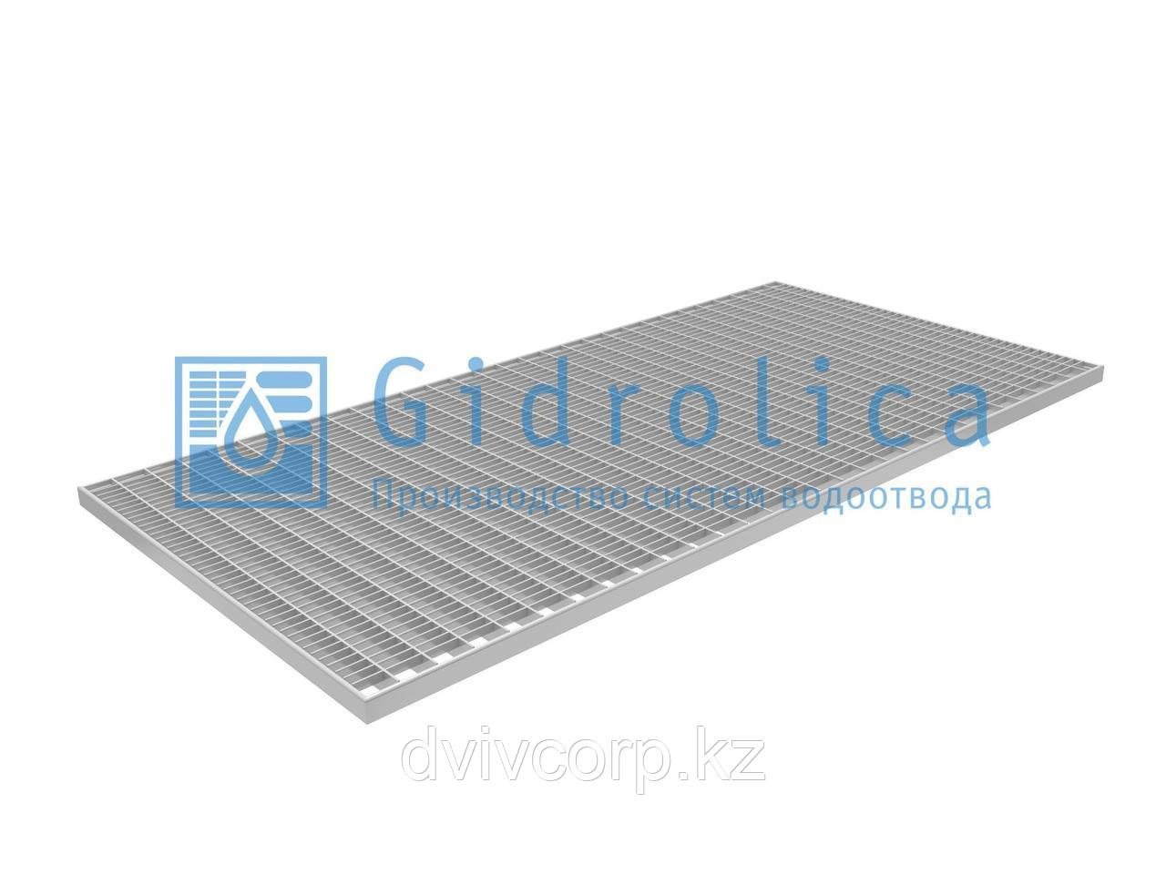 Арт. 302 Решетка Gidrolica Step Pro 490х990мм - стальная ячеистая оцинкованная