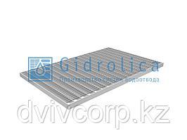 Арт. 301 Решетка Gidrolica Step Pro 390х590мм - стальная ячеистая оцинкованная