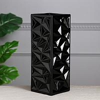 Ваза настольная 'Неаполь', чёрная, керамика, 33 см