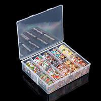 Набор переводной фольги для дизайна ногтей 'Новогоднее ассорти', 4 x 50 см, 10 шт