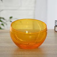 Ваза 'Анабель' шаровая с косым резом оранжевая d-12см, h-9.5см 1668