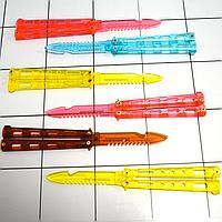 Ножи бабочки обманки балисонги складные ножи тренировочные пластиковые в наборе 6 шт цветные