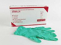 Перчатки нитриловые ARMILLA смотровые неопудренные, МЯТНЫЕ, размер S, уп 100шт