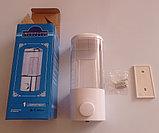 Дозатор для жидкого мыла белый 500 мл настенный мыльница, фото 2