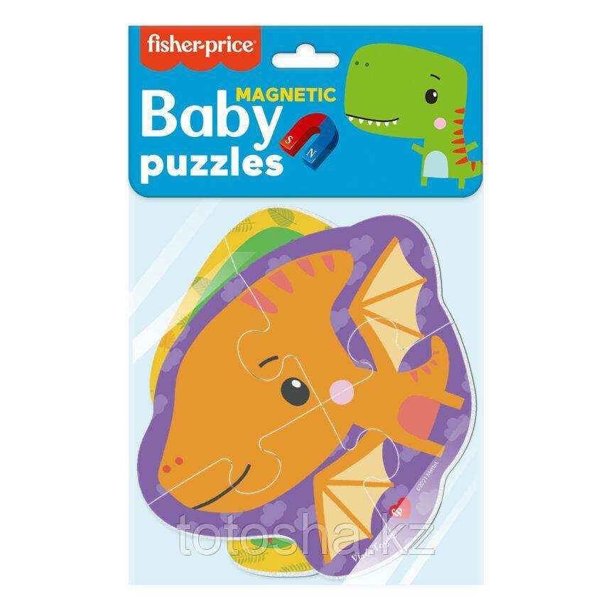 Магнитные беби пазлы Fisher Price «Динозаврики»
