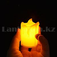 LED свеча на батарейках с подтеками 3.5х5 см маленькая