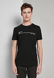 Tom Tailor Мужская футболка S, 46, Черный