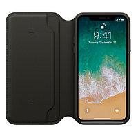 Оригинальный чехол Apple для IPhone X Leather Folio - Black MQRV2ZM/A