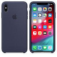 Оригинальный чехол Apple для IPhone XS Max Silicone Case - Midnight Blue MRWG2ZM/A