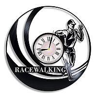 Настенные часы Спортивная ходьба Racewalking, подарок фанатам, любителям, 2278