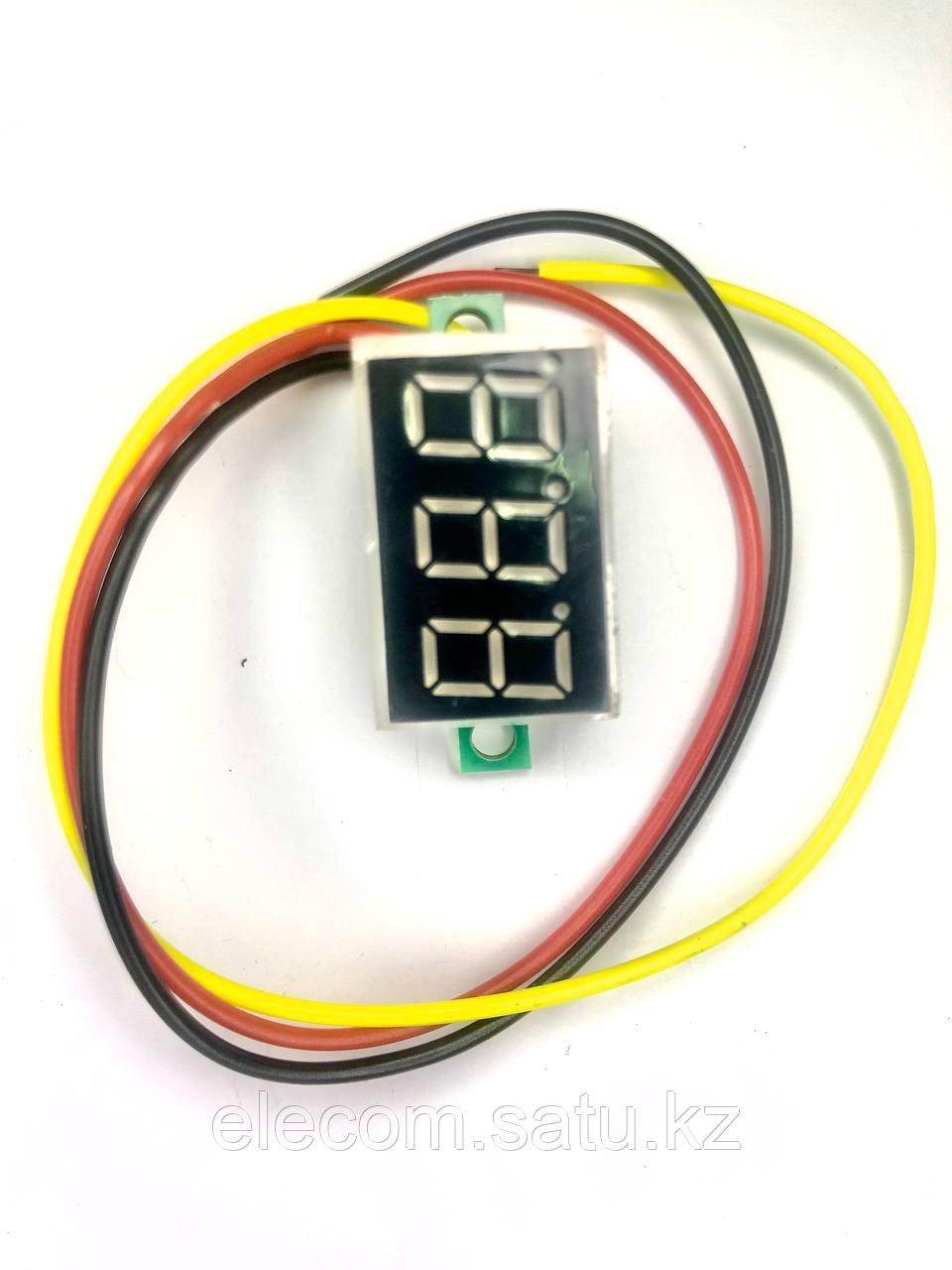 """Mini digital voltmeter 0.36"""", 0-99,9V, voltage supply 4-30V Red"""