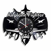 Настенные часы Самолет истребитель, подарок фанатам, любителям, 2283