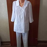 Медицинский костюм женский прямой однотонный, фото 1