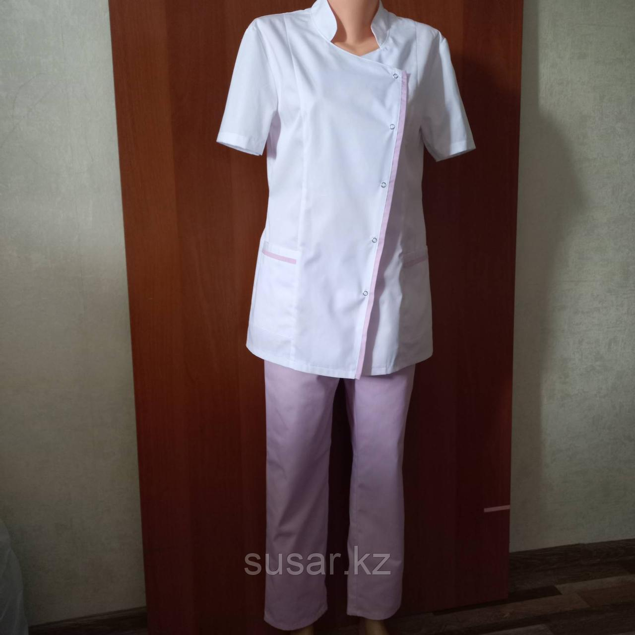 Медицинский костюм женский косая застежка