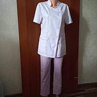 Медицинский костюм женский косая застежка, фото 1