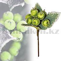 Букетик декоративный ягоды в сахаре зеленые