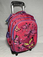 Школьный рюкзак на колесах для девочек, 1-3-й класс. Высота 47 см, ширина 29 см, глубина 16 см., фото 1