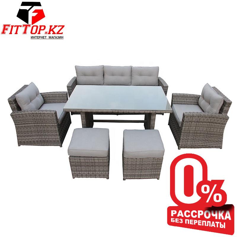 "Комплект мебели ""Борсу"" (Стол+Кресло 2+Диван+Пуфики 2) - фото 1"