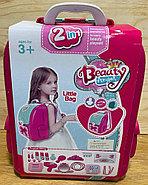 008-963А Рюкзак трюмо фен набор с аксесс. 2в1 29*23см, фото 3