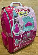 008-963А Рюкзак трюмо фен набор с аксесс. 2в1 29*23см, фото 4