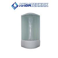Душ. каб. Parly EB82 (80*80*215) высокий поддон, передние стекла матовые, задние стекла белые