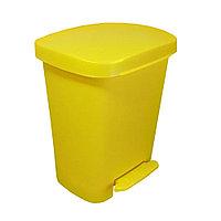 Контейнер с педальным механизмом для сбора и хранения медицинских отходов, класса Б, желтый, 50 л