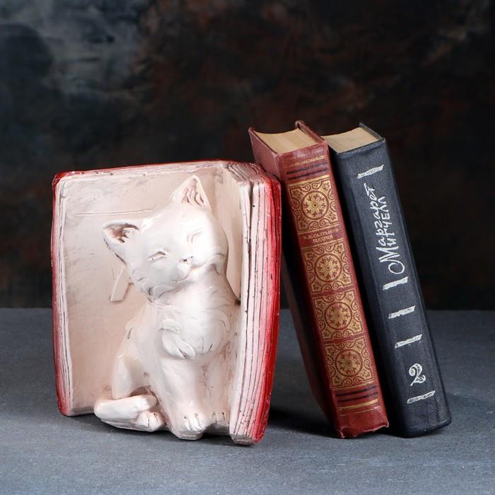 """Подставка для книг """"Котята"""" правый, красно-коричневый 20см"""