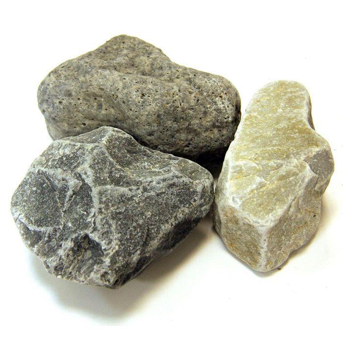 """Камень для бани """"Кварцит"""" обвалованный, коробка 20 кг"""