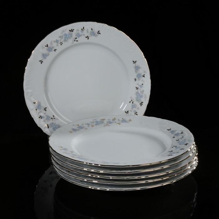 Набор тарелок плоских, 25 см, 6 шт
