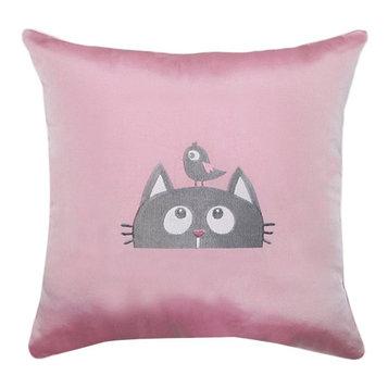 Подушка декоративная «Кот», размер 45х45 см, с вышивкой