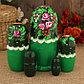 Матрёшка «София», тёмно-зелёный платок, 5 кукольная, 17 см, фото 2