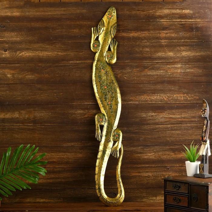 """Панно дерево"""" Геккон"""" 97х13х1,5 см"""