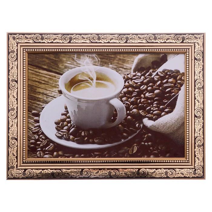 """Картина """"Горячий кофе"""" 27*37 см"""