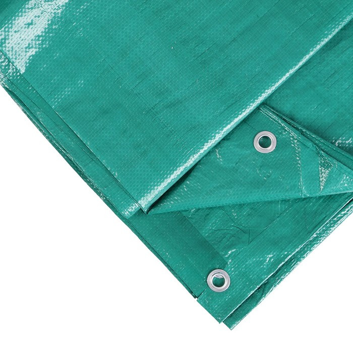 Тент защитный, 6 × 3 м, плотность 90 г/м², люверсы шаг 1 м, тарпаулин, УФ, зелёный