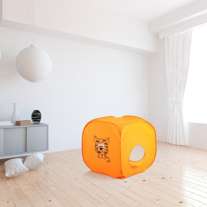 Палатка детская «Домик. Весёлый тигрёнок», 60 × 60 × 60 см