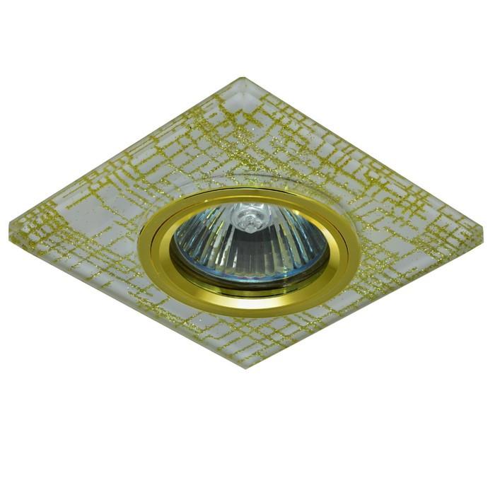 Светильник встраиваемый IL.0018.4973, GU5.3, 50 Вт, цвет золото, d=60мм