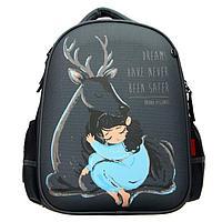 Рюкзак каркасный Bruno Visconti, 38 х 30 х 20 см 'Forest Dream. Олень и девочка'