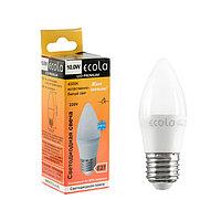 Лампа светодиодная Ecola candle LED Premium, 10 Вт, E27, 4000 K, 100x37 мм