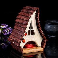 Чайный домик «Избушка», 170 × 140 × 230 мм, материал: дуб, сосна