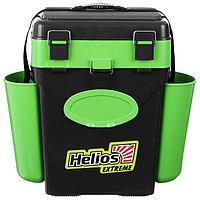 Ящик зимний Helios FishBox 10 л, цвет зелёный