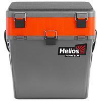 Ящик зимний Helios двухсекционный, цвет серый/оранжевый