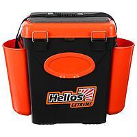 Ящик зимний Helios FishBox 10 л, односекционный, цвет оранжевый