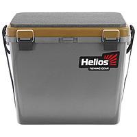 Ящик зимний Helios односекционный, цвет серый/золотой