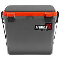 Ящик зимний Helios односекционный, цвет серый/оранжевый
