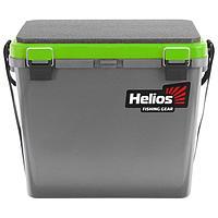 Ящик зимний Helios односекционный, цвет серый/салатовый