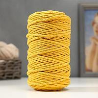 Шнур для вязания 100 хлопок, ширина 5 мм 100м/450гр (Горчица)