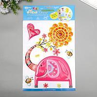 """Декоративные наклейки Home Decor """"Розовый слон"""" 29х41 см"""