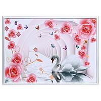 Картина 'Лебеди в цветочной арке' 50х70(53х73) см