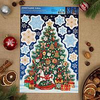 Набор наклеек 'Новогодняя елка'